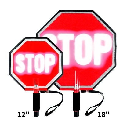 Paddle Stop Stop Flashing LED Hand Held Sign