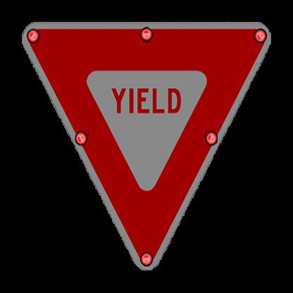 TS40 Flashing Yield Sign night