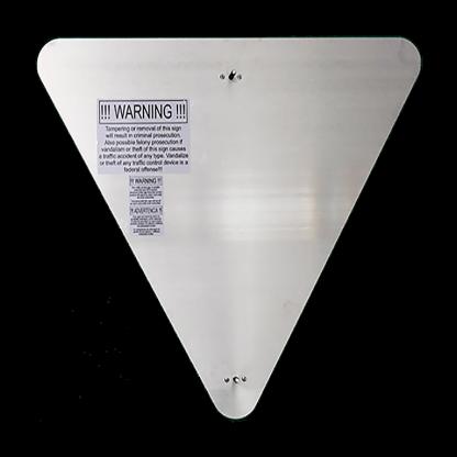 TS40 Flashing Yield Sign back