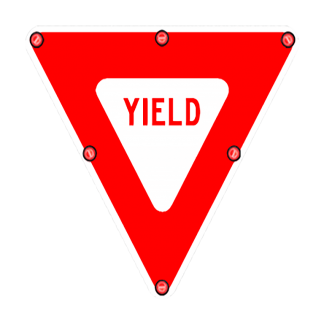 TS40 Flashing Yield Sign day