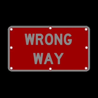 TS40 Flashing Wrong Way Sign night