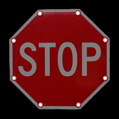 TS40 Flashing Stop Sign Night
