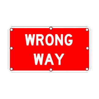 TS40 Flashing Wrong Way Sign day