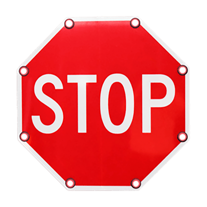 TS40 Flashing Stop Sign Day
