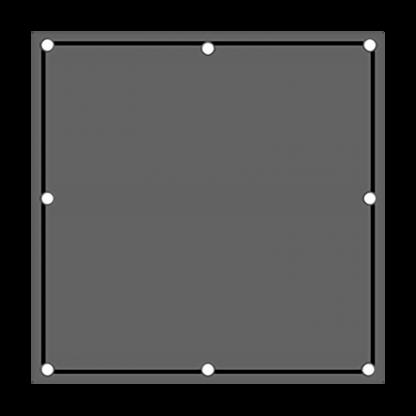 TS40 Flashing Square Sign night
