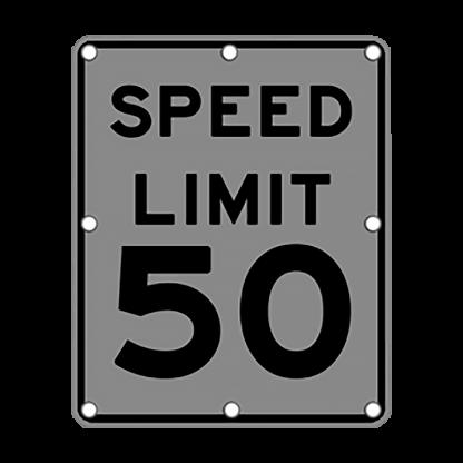 TS40 Flashing Speed Limit Sign night