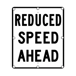 TS40 Flashing Reduced Speed Ahead Sign day