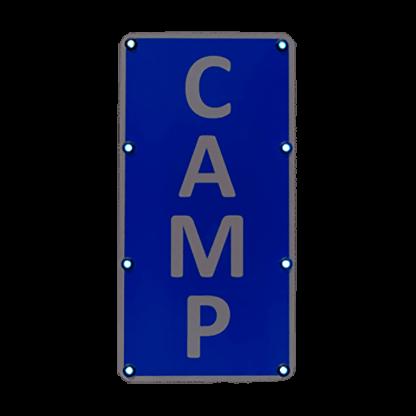 TS40 Flashing Rectangle Sign Camp Night