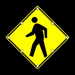 TS40 Flashing Pedestrian Sign Day