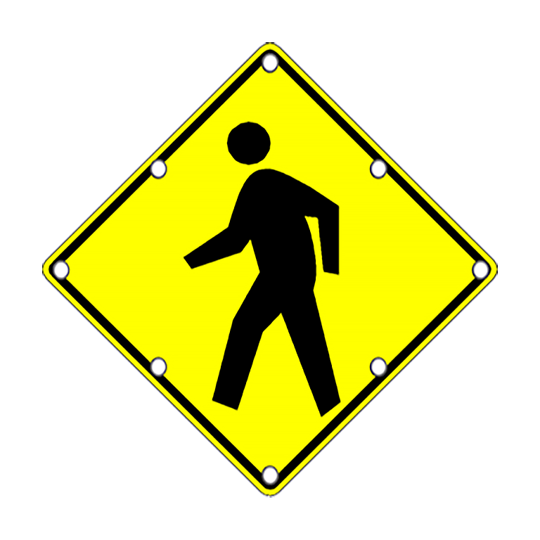 TS40 Flashing Pedestrian Sign Day