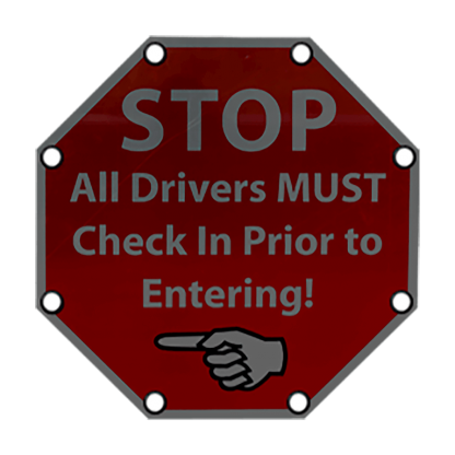 TS40 Flashing Octagon Sign Stop All Drivers MUST Check in night