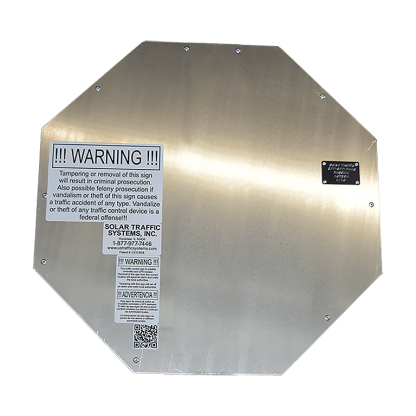 TS40 Flashing Octagon Sign back