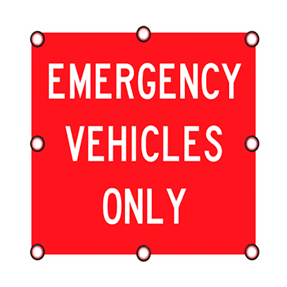 TS40 Flashing Emergency Vehicles Only Sign day