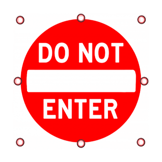 TS40 Flashing Do Not Enter Sign Day
