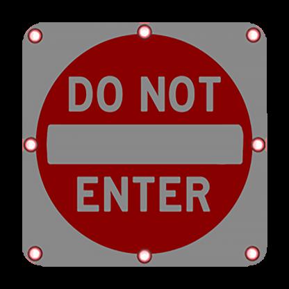 TS40 Flashing Do Not Enter Sign Night
