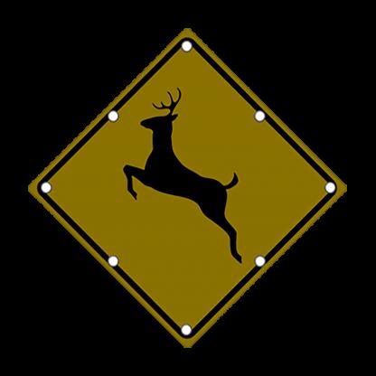 TS40 Flashing Deer Crossing sign Night