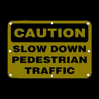 TS40 Flashing Caution Slow Down Pedestrian Traffic sign Night