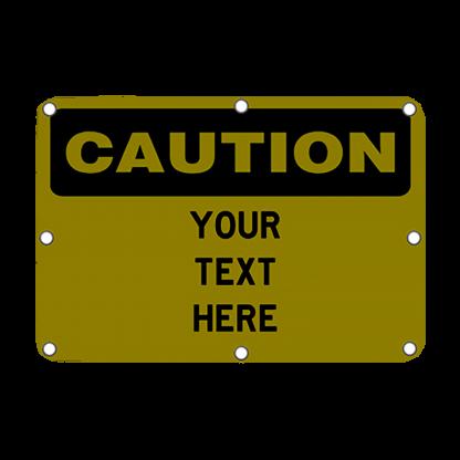 TS40 Flashing Caution Sign Night