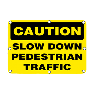 TS40 Flashing Caution Slow Down Pedestrian Traffic sign Day