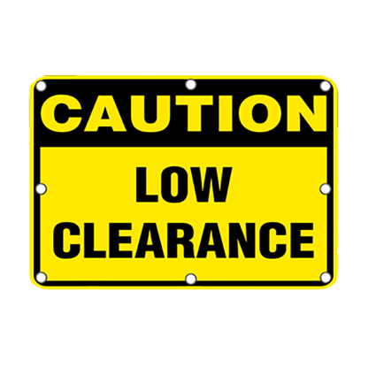 TS40 Flashing Caution Low Clearance sign Day