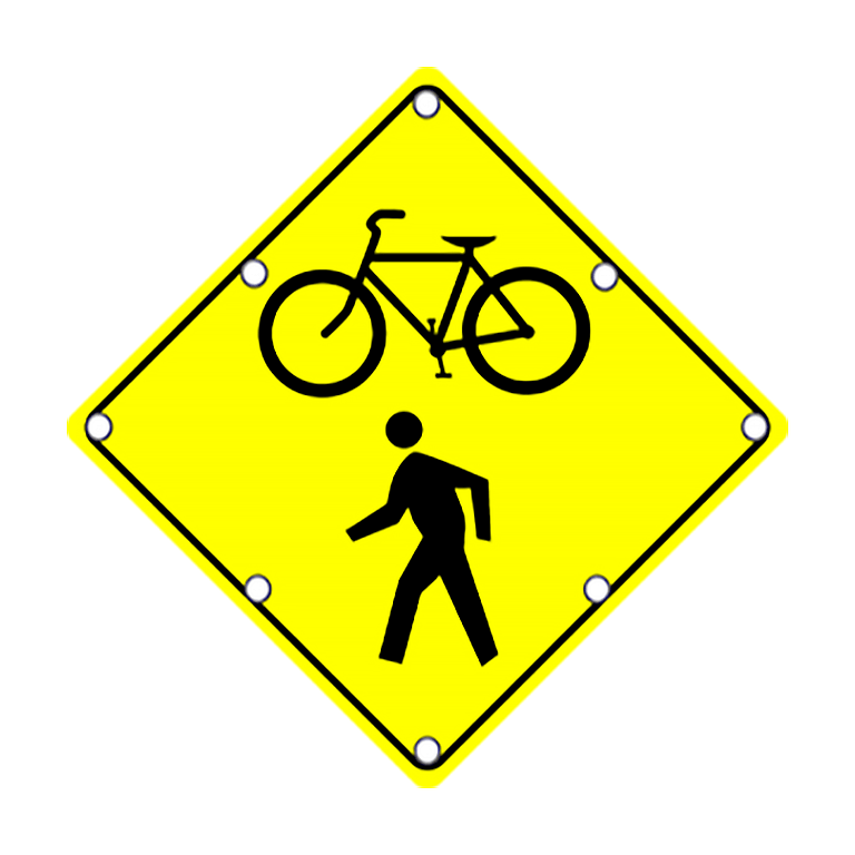 TS40 Flashing Bike and Pedestrian Crossing Sign Day