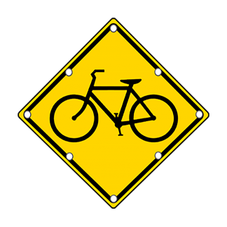 TS40 Flashing Bicycle Warning Sign day