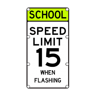 TS40 Flashing School Speed Limit Sign Day
