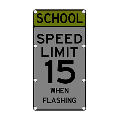 TS40 Flashing School Speed Limit Sign Night