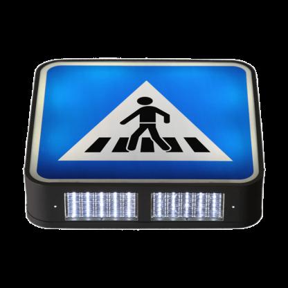 TS-SR-U2H7 Illuminated Crosswalk Overhead Sign