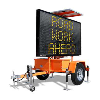 MB9757WT Winch Trailer Mounted Message Board