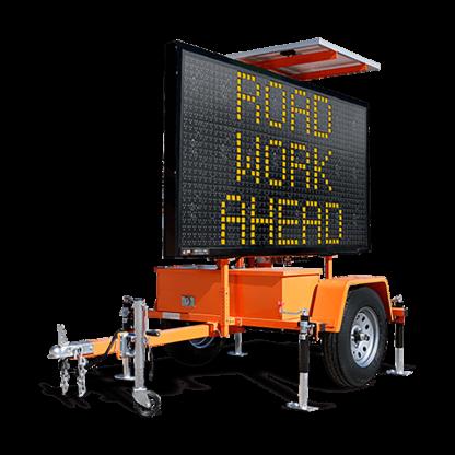 MB9757WT Winch Trailer Mounted Message Board