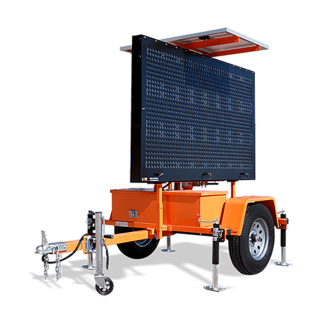 MB8249WT Winch Trailer Mounted Message Board