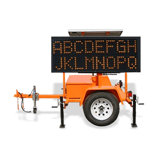 Winch Trailer Mounted Message Boards
