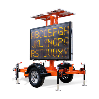 MB8249 Hydraulic Trailer Mounted Message Board