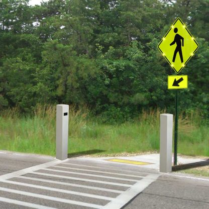 Pedestrian Detection Photo Sensor Bollards