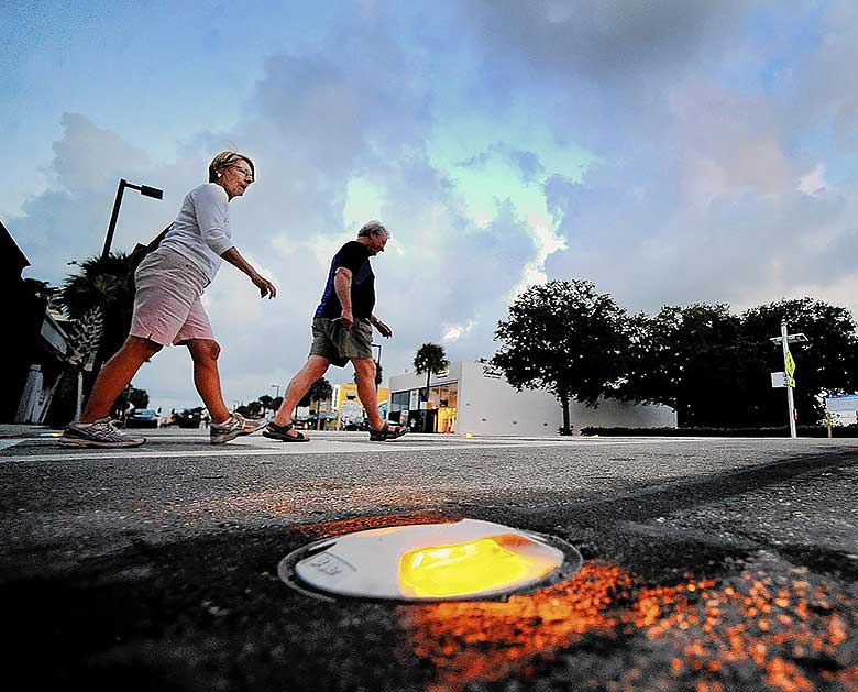 Las Olas Boulevard Crosswalk Installation