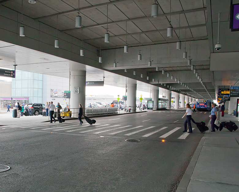 Logan International Airport Crosswalk Installations