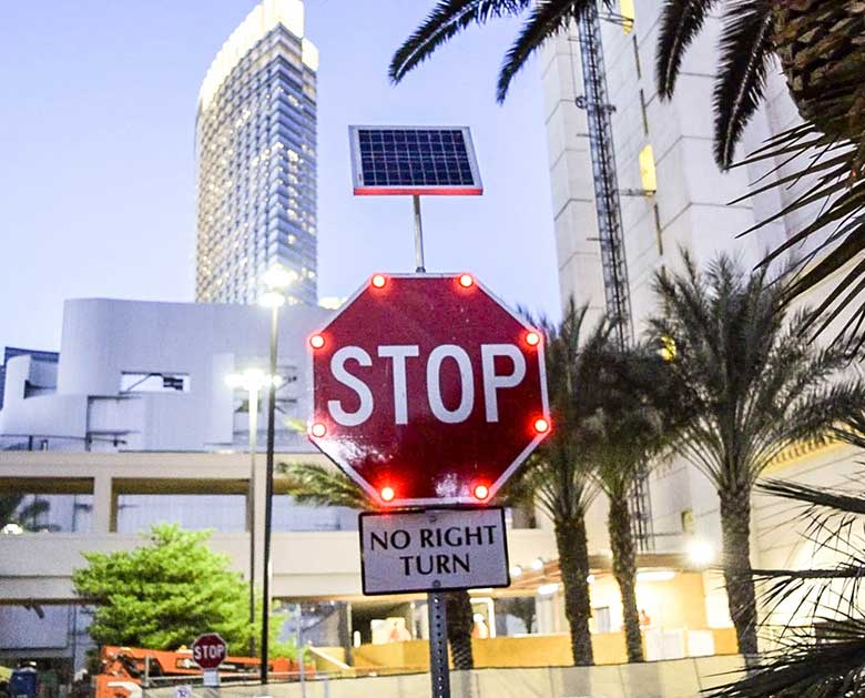 Stop Sign Las Vegas Installation