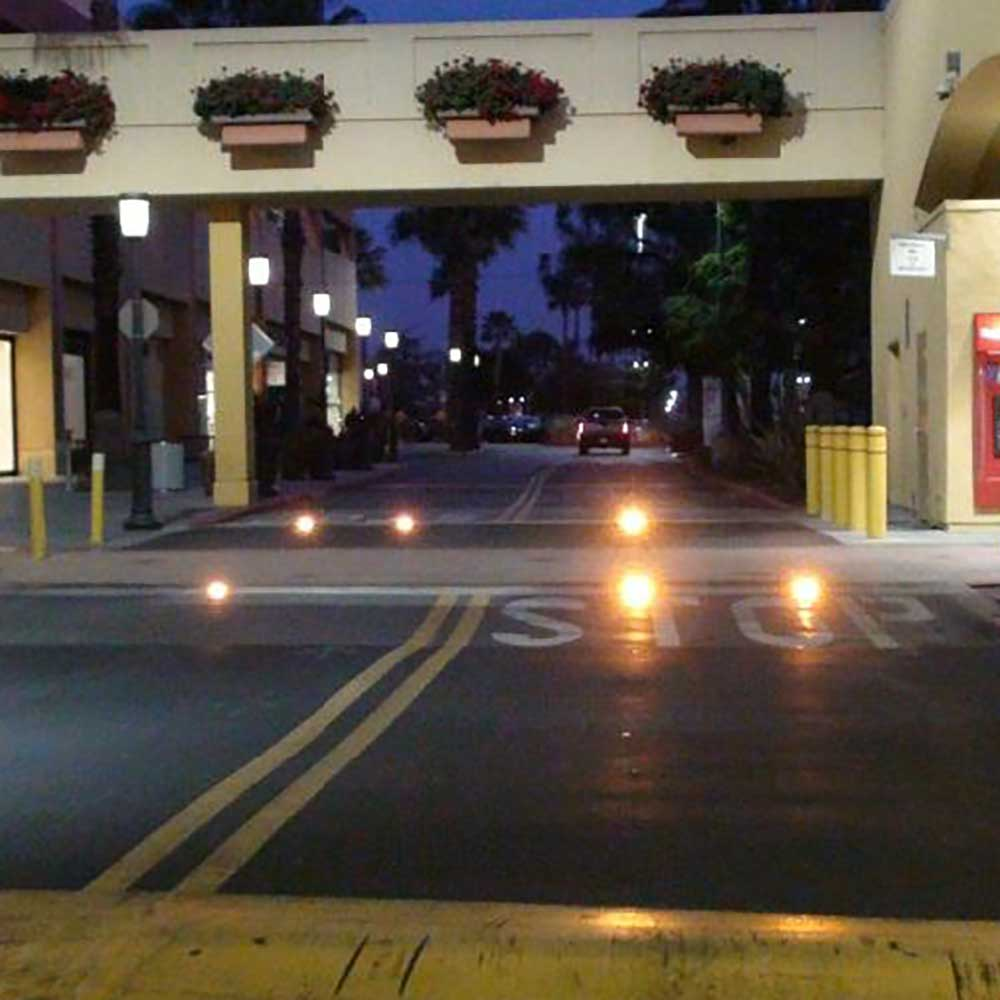 Crosswalk Warning Inpavement Lights at Westfield Fashion Square