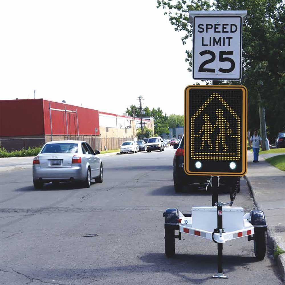 SafePace 800 Variable Messaging Radar Speed Sign
