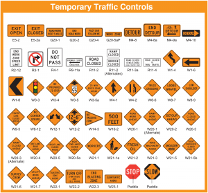 temporary traffic controls signs