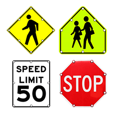 Flashing LED Traffic Signs