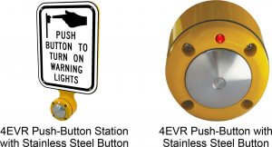 Wireless 4EVR Push Button Station Signs Beacons