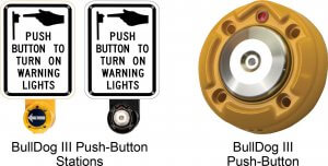 Wireless BullDog III Push Button Crosswalk Systems