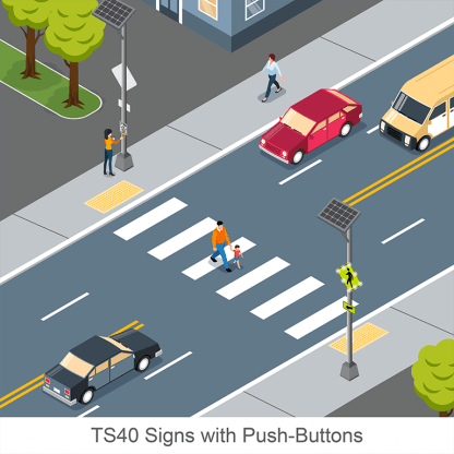 TS40 Signs with Push Buttons